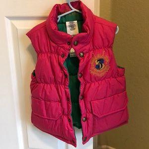 Ralph Lauren Hot Pink Girls Puffer Vest sz 4-5